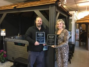 Simon of Award Leisure Birmingham was awarded 'New Dealer of the Year' in 2018