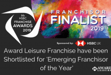 Award Leisure Franchise have been Shortlisted for 'Emerging Franchisor of the Year' Award